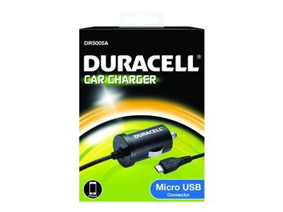 Duracell 1A In-Car Charger With Micro USB Cable