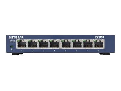 Bt business direct netgear 8 port fast ethernet switch fs108 300uks - 8 port fast ethernet switch ...