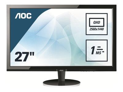 "AOC Q2778VQE 27"" 2560×1440 1ms DVI-D HDMI DP LED Monitor"