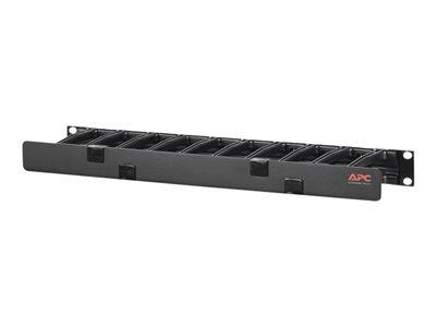 "APC Horizontal Cable Manager, 1U x 4"" Deep, Single-Sided"