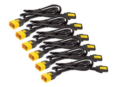 APC Power Cord Kit (6 ea) - Locking - C13 to C14 - 1.8m