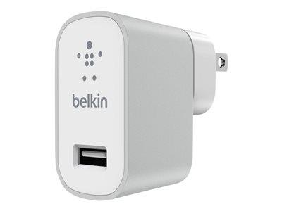 Belkin Premium MixIt Fast 2.4Amp Mains Charger (UK Plug) - Silver