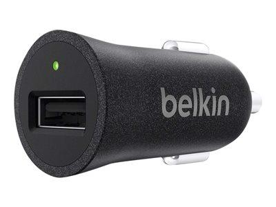 Belkin Premium Ultra-Fast 2.4Amp USB Car Charger - Black