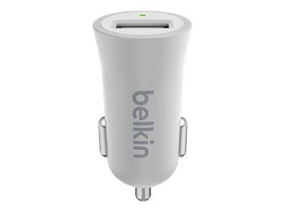 Belkin Premium Ultra-Fast 2.4Amp USB Car Charger - Silver