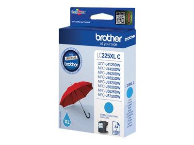 Brother LC225XL High Yield Cyan Inkjet Cartridge