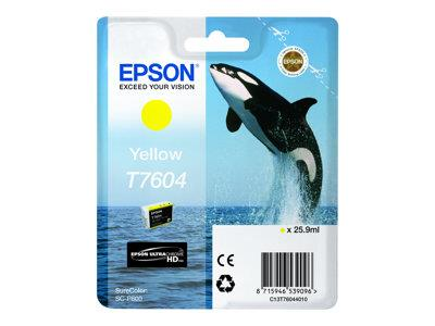 Epson T7604 Yellow Ink Cartridge SureColor SC-P600 Printers
