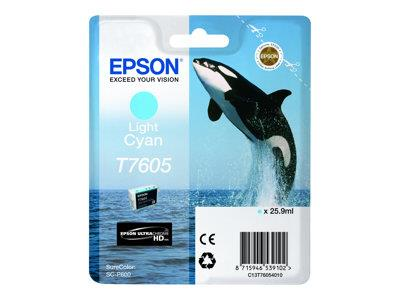 Epson T7605 Light Cyan Ink Cartridge SureColor SC-P600 Printers