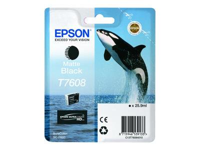 Epson T7608 Matte Black Ink Cartridge SureColor SC-P600 Printers