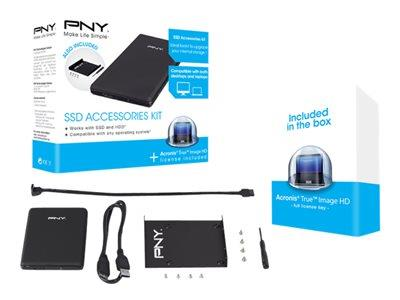 PNY SSD Upgrade Accessories Kit - storage enclosure - USB 3.0