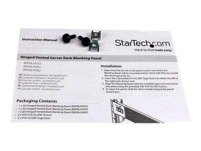 StarTech.com 4U Vented Panel with Hinge