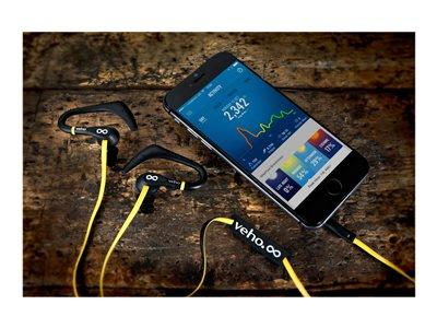 Veho ZS-2 Water Resistant Sports Earphones – Yellow/Black