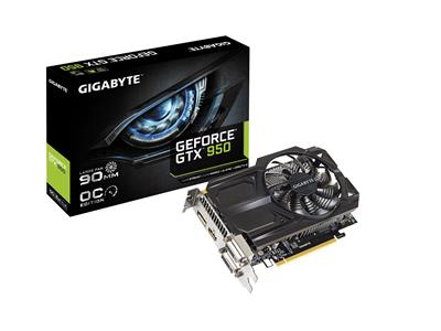 Gigabyte GeForce GTX 950 2GB GDDR5 OC PCIe3.0 Graphics Card