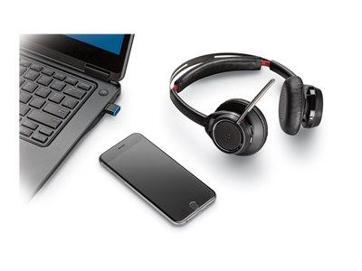 Plantronics Voyager Focus B825-M Duo Headset Only No Base(PC + Bluetooth) MS Lync/Skype for Business