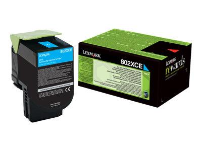 Lexmark 802XCE Cyan Ink Cartridge