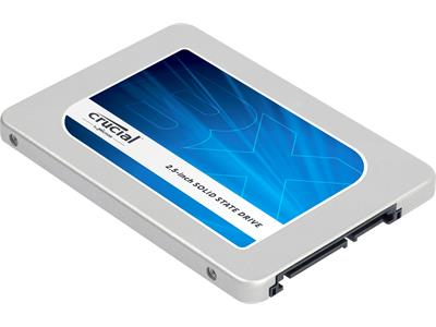 "Crucial 480GB BX200 2.5"" 7mm (with 9.5mm adaptor) SATA 6Gb/s SSD"