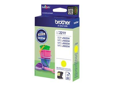 Brother LC221Y Yellow Original Ink Cartridge