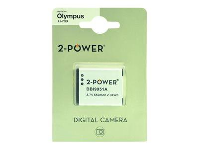 2-Power Digital Camera Battery 3.7V 550mAh