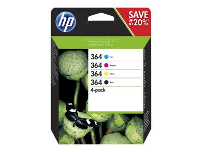 HP 364 - 4-pack - black, yellow, cyan, magenta - original - ink