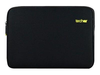 "Techair 15.6"" Black Slip Case With Yellow Lining"