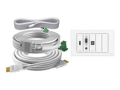 Vision Techconnect Faceplate Kit - Module Pack with 5M Cable Pack