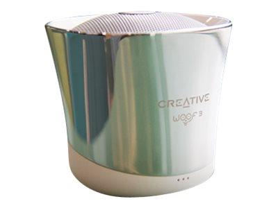 Creative Woof 3 Micro-sized Bluetooth Speaker - Winter Chrome