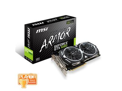 MSI GeForce GTX 1080 ARMOR OC 8GB GDDR5X FROZR Graphics Card