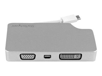 StarTech.com Travel A/V Adapter USB-C to VGA DVI HDMI Mini DisplayPort - 4K video converter