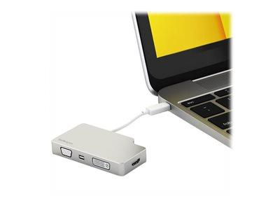StarTech.com USB C Multiport Video Adapter – Aluminum – USB-C to VGA/HDMI/Mini DisplayPort/DVI Adapter –Display Adapter (CDPVGDVHDMDP) - external video adapter