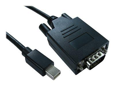 Cables Direct 1m Mini DisplayPort to VGA M-M Cable Black - B/Q 100