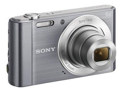 Sony Sony DSC-W810 Camera Silver 20.1MP  6x Zoom 2.7LCD