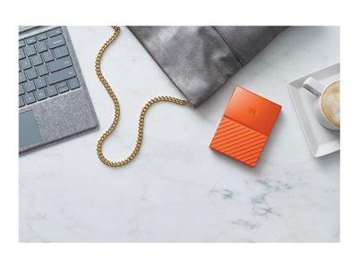 "WD 4TB My Passport 2.5"" USB 3.0 Portable Hard Drive - Orange"