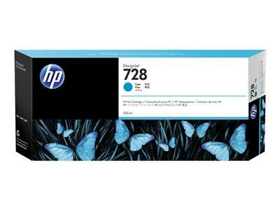 HP 728 - 300ml Cyan Original DesignJet Ink Cartridge
