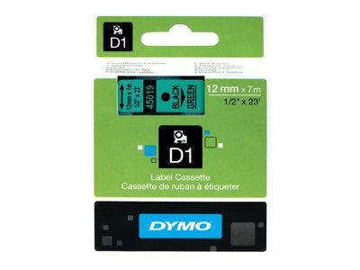 DYMO D1 Self-Adhesive Label Tape 1 Roll - Black on Green