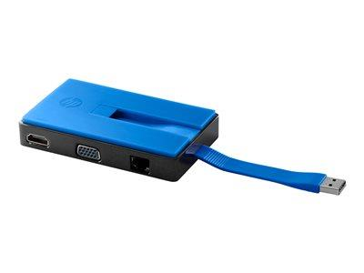 HP USB Travel Dock - Docking station - 10Mb LAN Spectre Pro x36