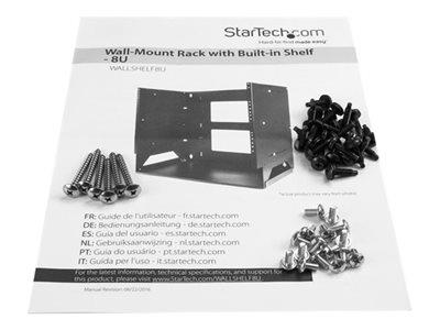 StarTech.com 8U WM Server Rack with Shelf