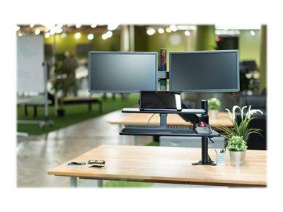 Kensington Sit Stand Workstation Dual Arm