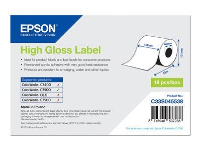 Epson High Gloss Label - Continuous Roll: 102mm x 33m