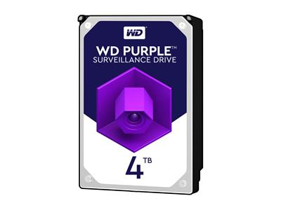 "WD 4TB Purple 3.5"" SATA 6Gb/s 5400RPM 64MB Surveillance Drive"