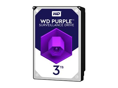 "WD 3TB Purple 3.5"" SATA 6Gb/s 5400RPM 64MB Surveillance Drive"