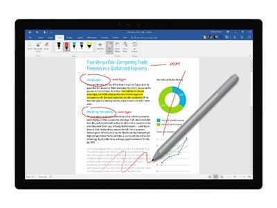 Microsoft New Surface Pen - Bluetooth 4.0 - Silver / Platinum