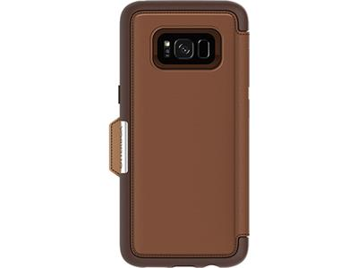OtterBox Strada Series for Samsung Galaxy S8 - Burnt Saddle Brown