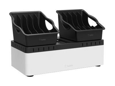Belkin Store & Charge Go - Base + 2 Bins + 10 Port USB Charger
