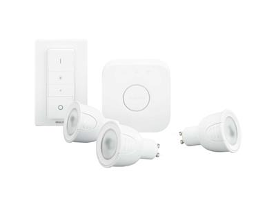 Philips Hue White and Colour Ambiance GU10 Starter Kit 3 Bulbs