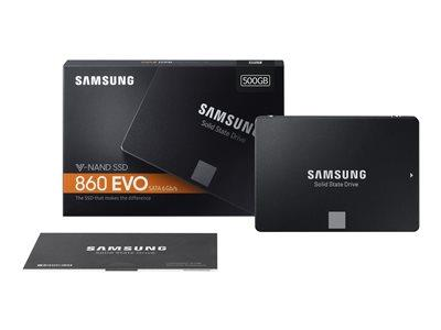"Samsung 500GB 860 EVO Series SATA 6GB/s 2.5"" SSD"