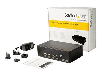 StarTech.com 4PT Dual DP KVM Switch 4K60