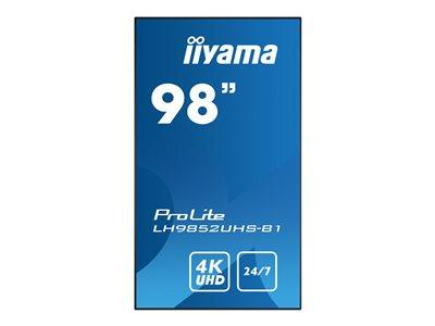"iiyama ProLite LH9852UHS-B1 98"" 3840x2160 8ms VGA DVI HDMI DisplayPort LED Large Format Display"