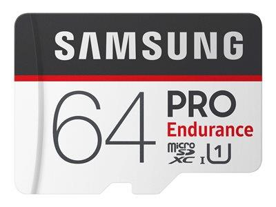 Samsung PRO Endurance 64GB Micro SDXC Flash Memory Card