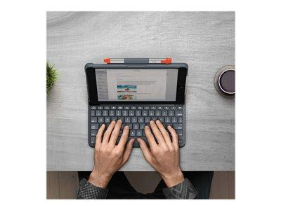 Logitech Slim Folio - Keyboard and folio case - Bluetooth - UK Englis