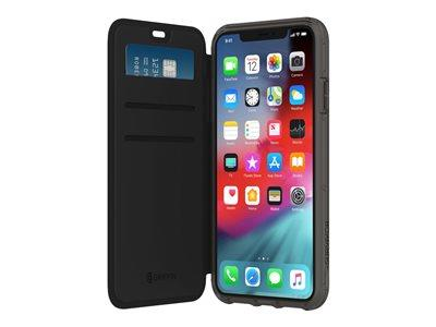 Griffin Survivor Clear Wallet for iPhone Xs Max - Black/Clear
