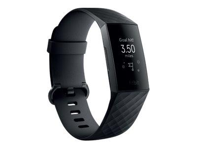 Fitbit Charge 3 Fitness Tracker - Black / Graphite Aluminium